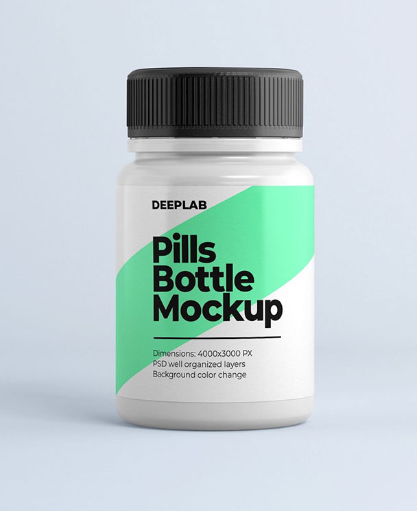 Medical Pill Bottle Mockup