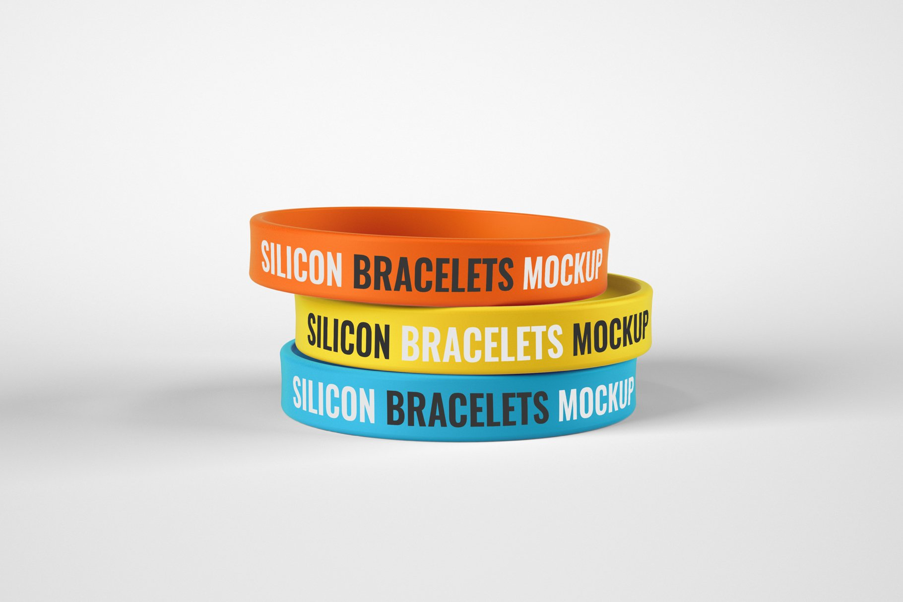 Silicon Rubber Bracelet PSD Mockup Template
