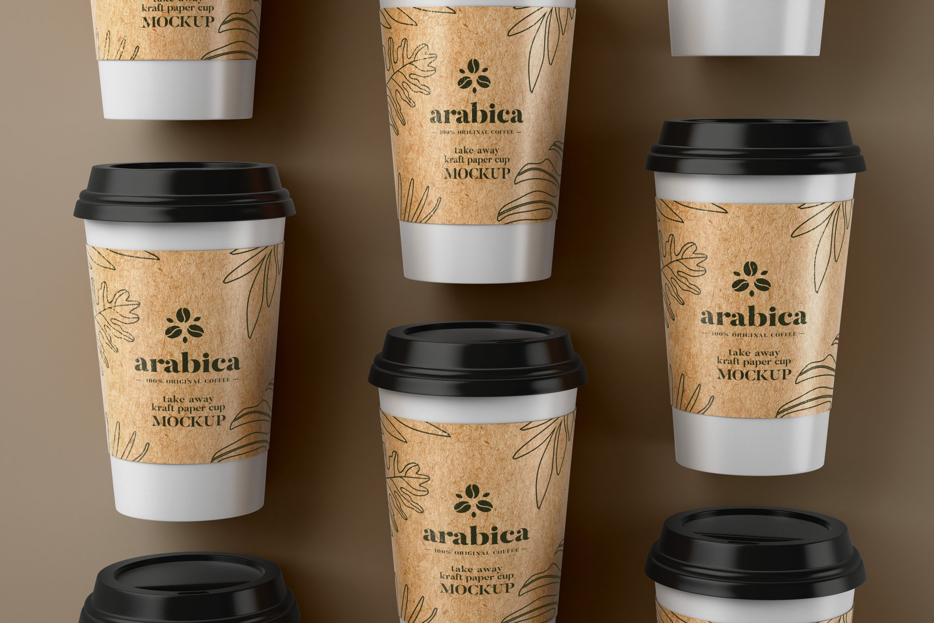 Take Away Paper Cup PSD Mockup Template