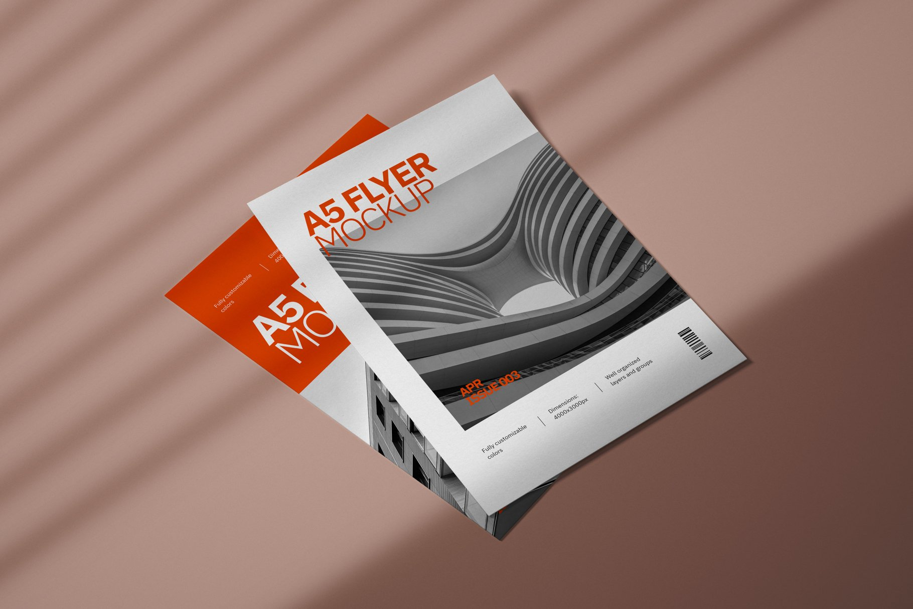 Modern Realistic Premium A5 PSD Flyer Mockup